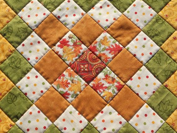 Farmhouse Country Patchwork Quilted Table Topper Candle Mat