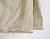 Yardage - 100% linen fabric plain putty natural colour washed by the yard for sewing - thecathedral