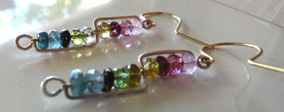 Shades of Tourmaline Earrings