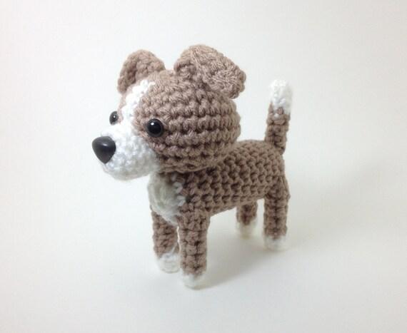 Amigurumi Italian Greyhound Stuffed Animal Handmade Blue Fawn
