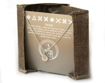 STAR - protection sign chain necklace or bracelet- handmade sterling silver 925 pendant