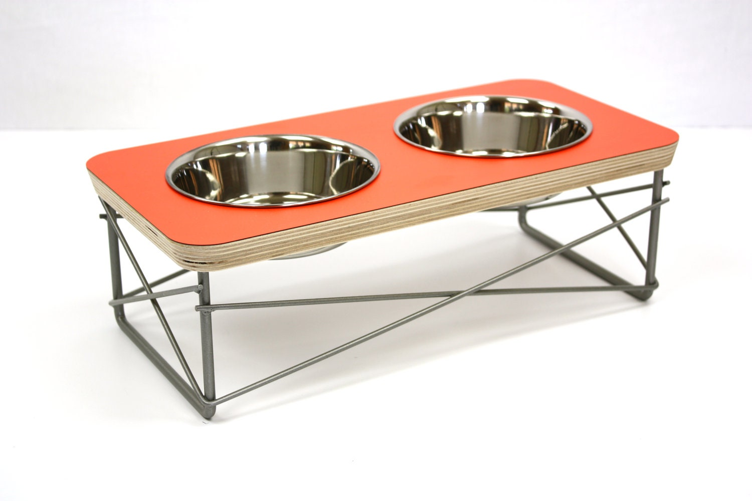 modern pet feeder dog bowl or cat bowl elevated feeder mid - 🔎zoom