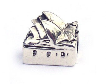 Sydney Opera House Sterling Silver Landmark Charm Bead LM014