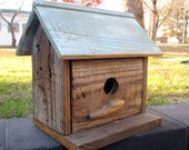 handmade birdhouse from reclaimed wood -- alabama folk art