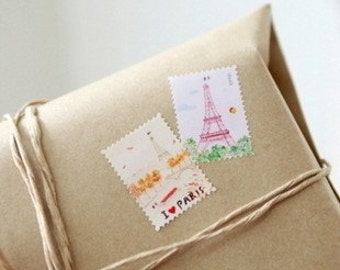 3 Sheets Korea Paper Deco Sticker Stamp-Stamp Sticker