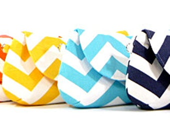 Chevron Bridesmaid Clutches Wedding Clutch Bridesmaids Gifts Choose Your Fabric Set of 6