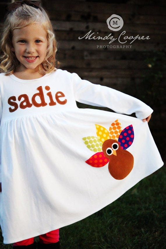 Toddler Thanksgiving Dress - Personalized Turkey Dress