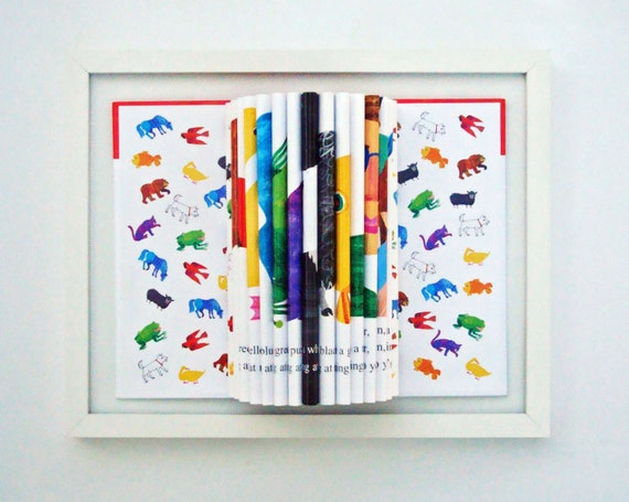 Kid Room Decor Book Art Sculpture