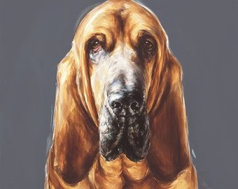 Bloodhound dog print -  Ltd. Ed. Fine art dog print
