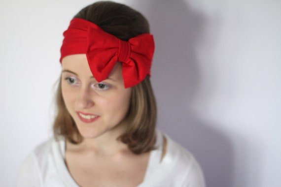 Red Bow Head Wrap