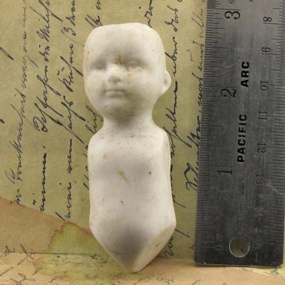 Antique German Doll Torso and Head 1860 Vintage