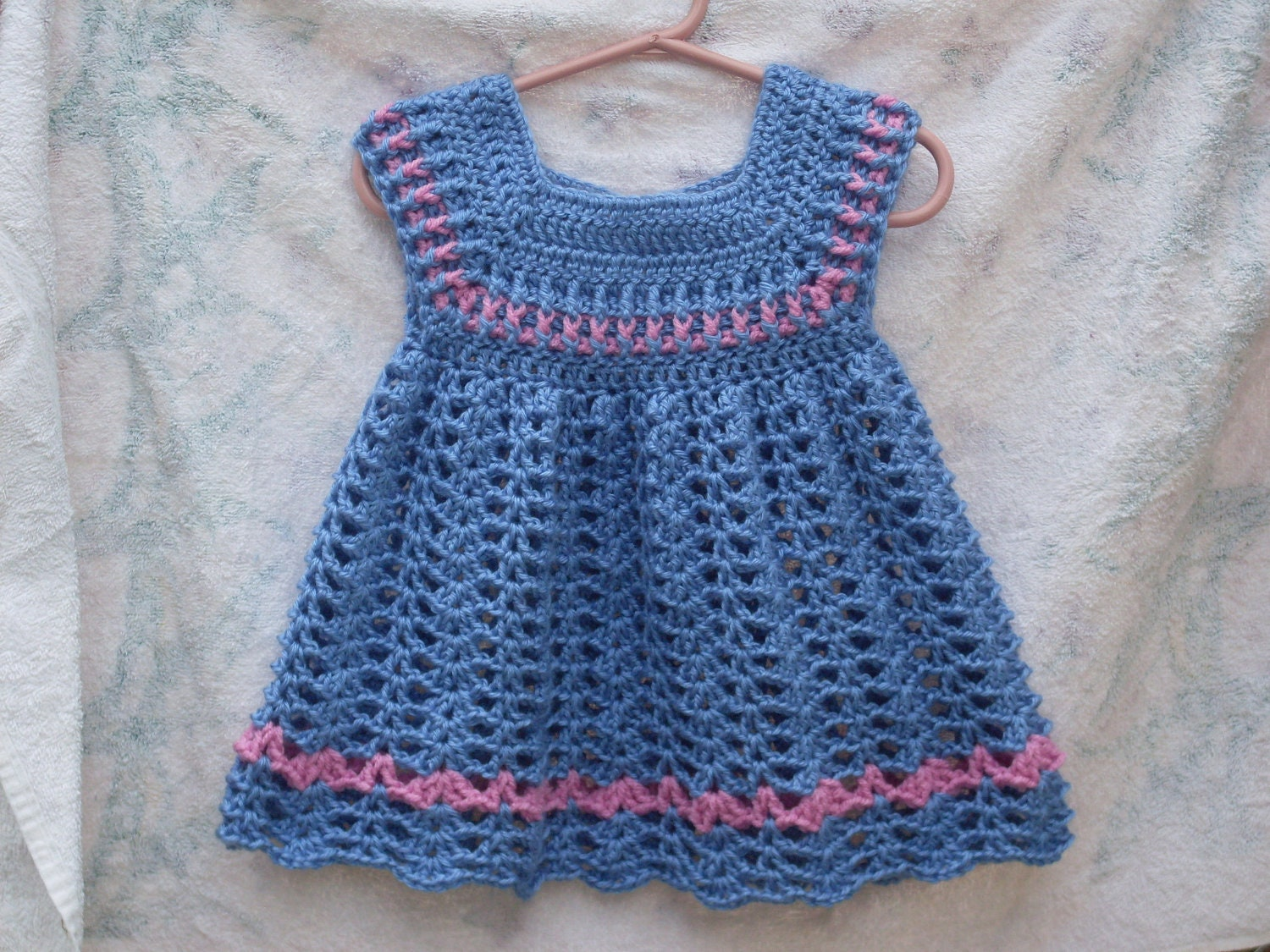 Powder Toddler Girls Dress CROCHET PATTERN by TiggztooPatterns