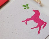 Christmas Horse stationery set, equestrian holiday stationary writing paper