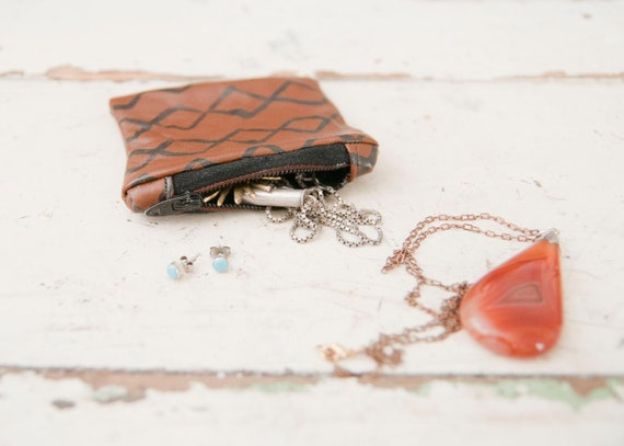 Mini Leather Pouch // Land