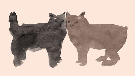 Cat Friends Print