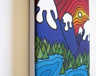 """The Kootenays, Mini Canvas Print 6"""" x 8"""""""