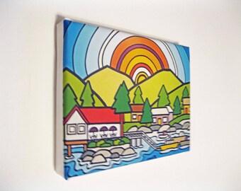 Summer, Garden Bay, Canvas Print Ready to Hang