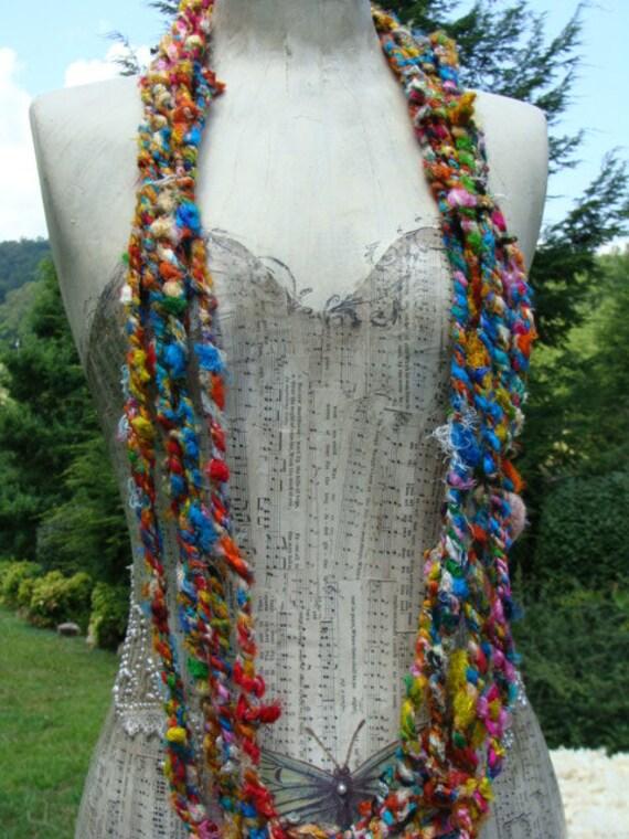 Fun And Funky Sari Yarn Cording So Soft  9 Yards Beautiful Textured