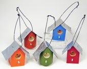 Christmas Ornaments Mini Birdhouse