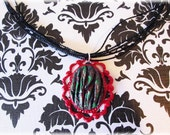 Zombie Skin Cameo Necklace