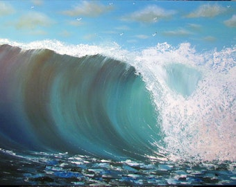 Australian Waves  Original painting on Canvas - Seascape - Waves - Ocean -  Art on Canvas - seascape - acrylic on canvas