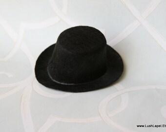 """Custom Mini Top Hat Base -  Unique2 """" Black Felt Top Hat"""