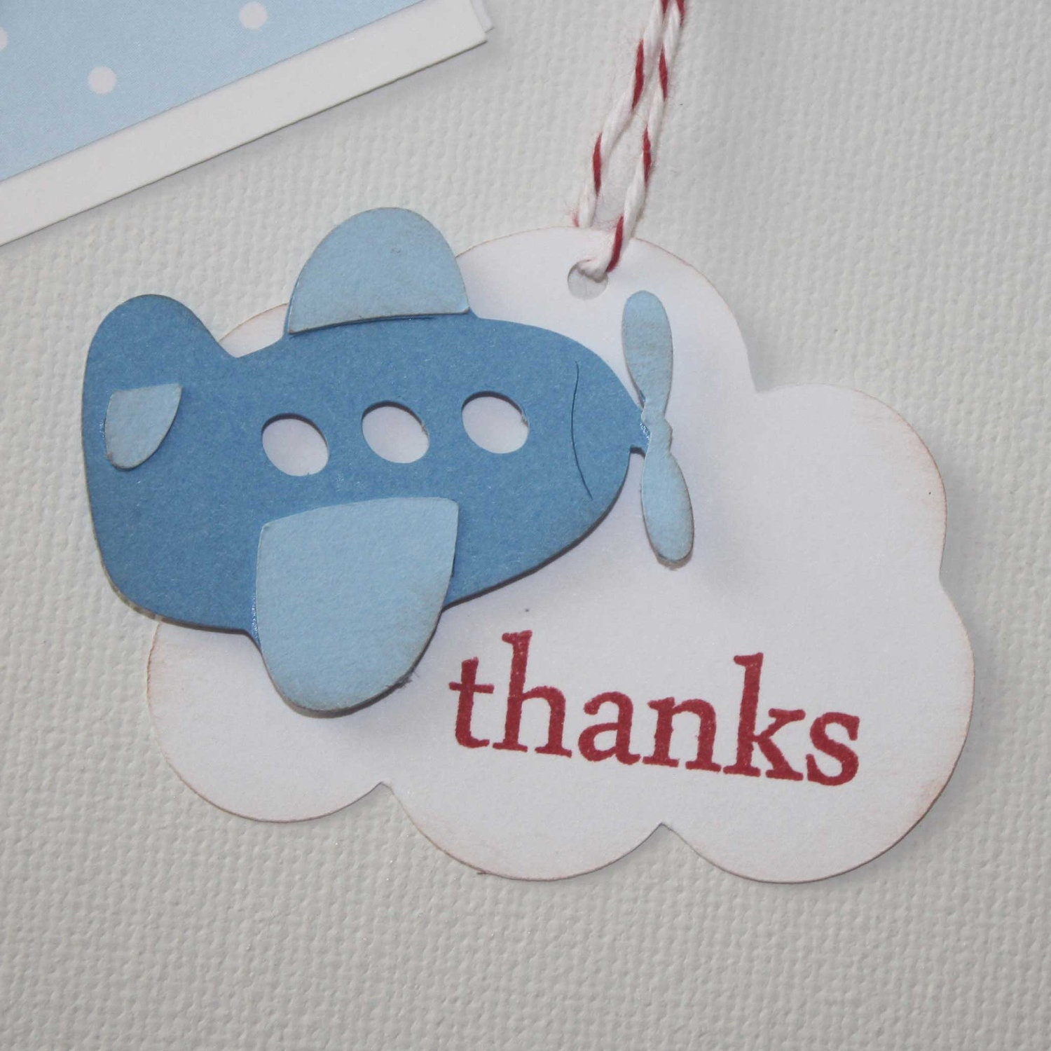 Airplane Birthday Party Favor Tags: Airplane Thank You Tags Favor Tags Gift Tags Perfect For