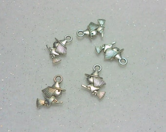 Halloween Witch Charms Lot of 5