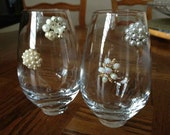 Beautiful Vintage Stemless Wine Charms