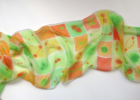 Citrus Mitosis Silk Scarf
