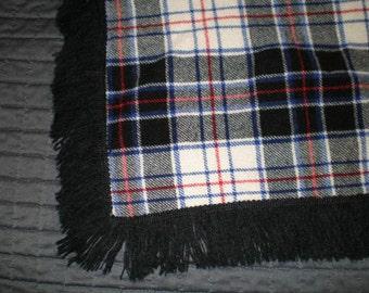 Vintage Gor-Ray Wool Plaid Blanket - Made In The United Kingdom