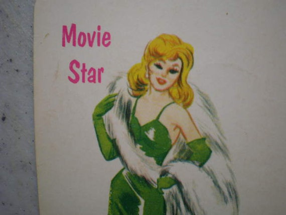 Vintage 1950's illustrated playing card - Movie Star