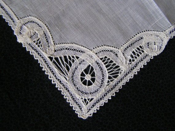 Vintage Handkerchief Off-White Linen