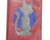 Passport Cover - Red with Cat