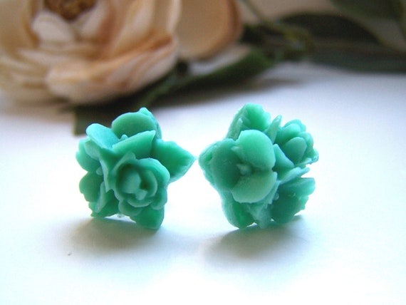Turquoise Bouquet Stud Earrings
