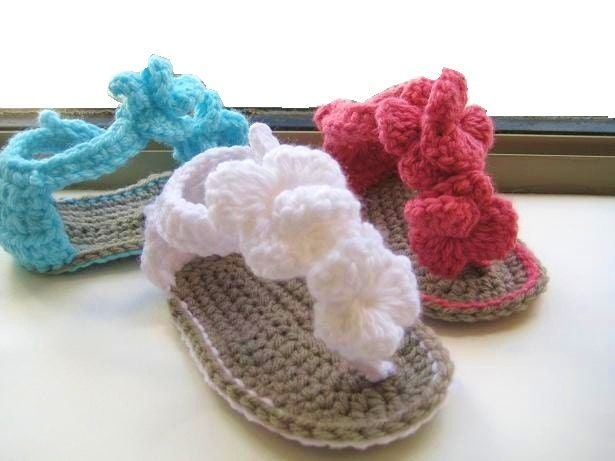 Spotlight Crochet Patterns : Crochet Pattern Baby Booties Orchid Sandals by CrochetBabyBoutique