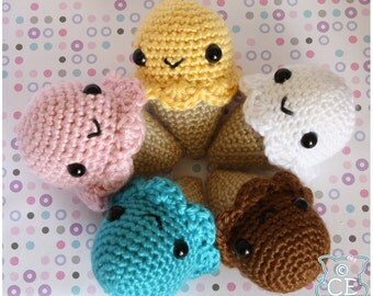 Ice Cream Cone Amigurumi Pattern