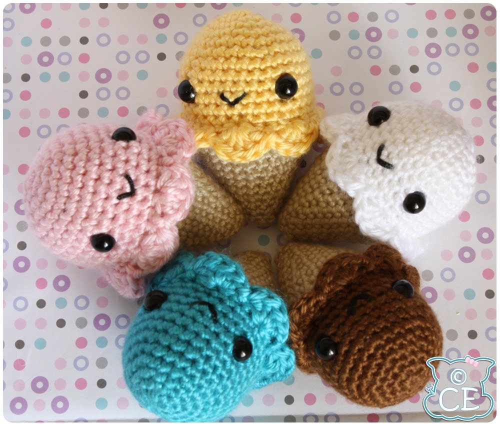 Amigurumi Ice Cream Pattern : Ice Cream Cone Amigurumi Pattern