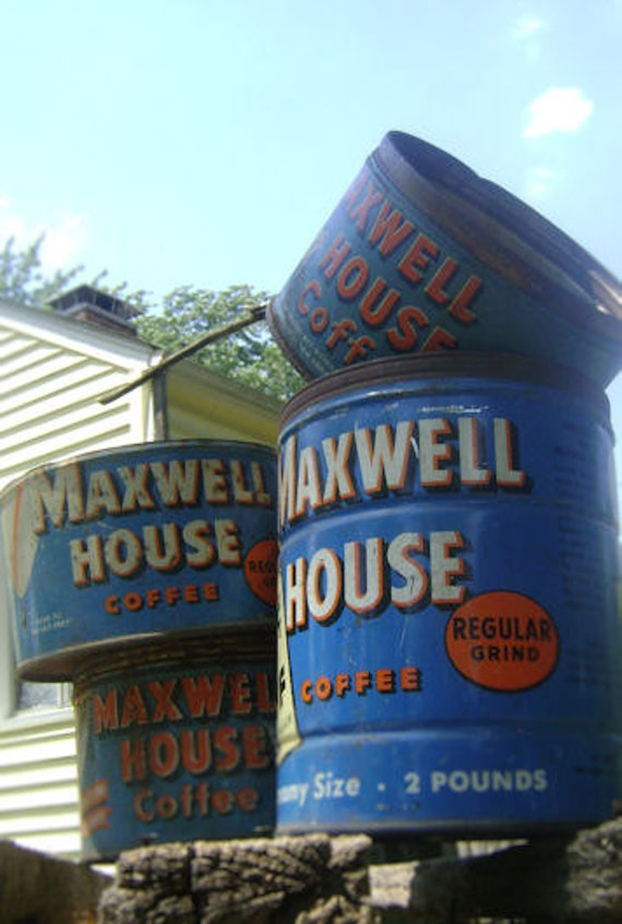 Vintage Maxwell House Coffee Cans