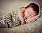 Newborn Baby Photo Prop Hooded Cocoon
