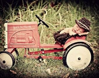 Newborn Photo Prop Baby Boy Cowboy Hat
