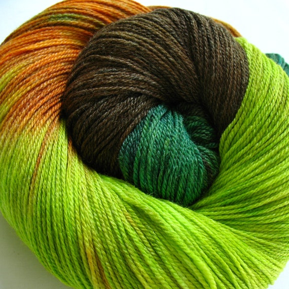 Super wash Merino Bamboo Nylon Yarn Hand Dyed (APA30)