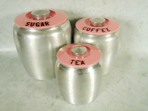 pink kitchen canister set pink kromex kitchen canisters vintage kitchen canister set 21281