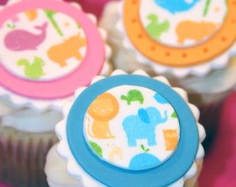 Fondant cupcake toppers Baby Shower Girl - Boy