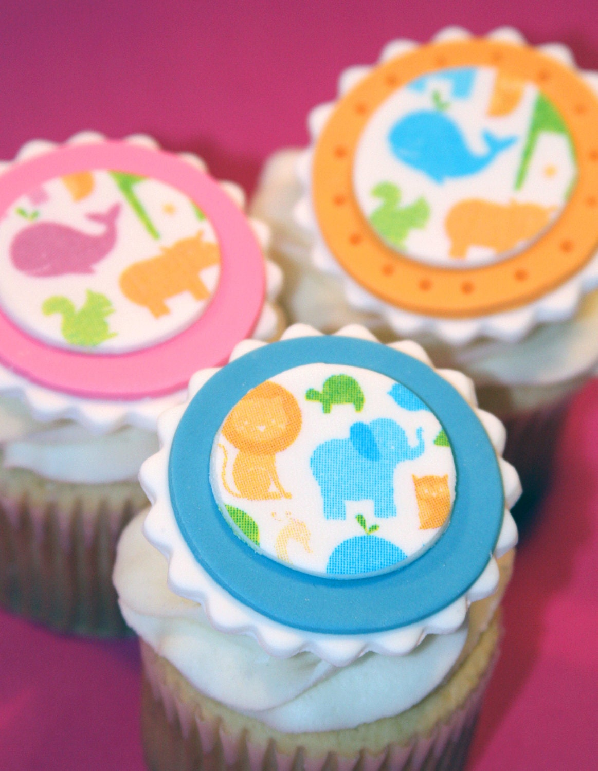 Fondant cupcake toppers Baby Shower Girl by