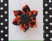Halloween Fabric Flower with Fabric Rosette Hair Clip