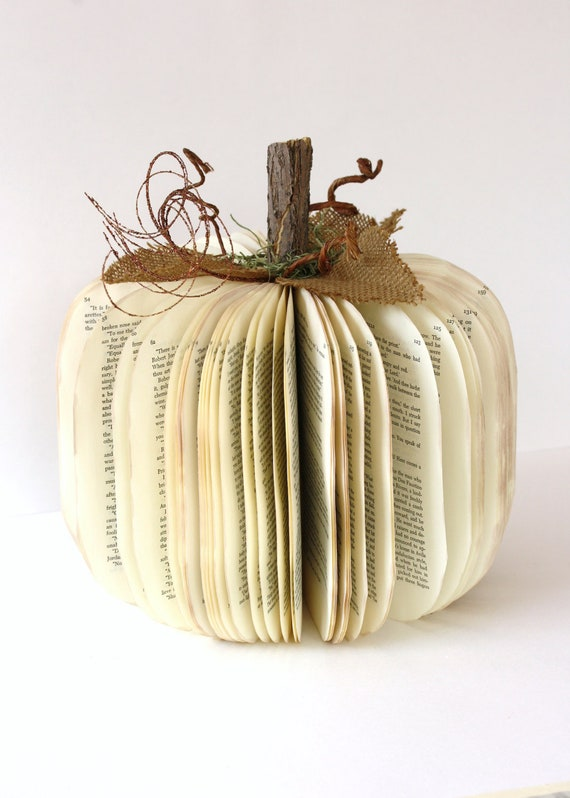 Vintage Book PUMPKIN  size large  For Whom the BELL Tolls  teacher gift