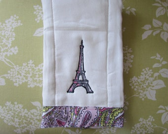 Eiffel Tower Burp Cloth