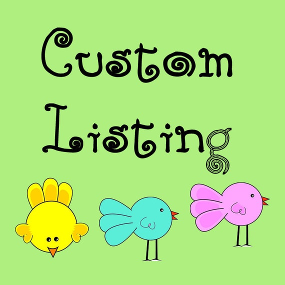 Custom Listing for Brittani Thomas