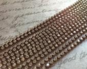 Rhinestone Chain Aged Patina 5 feet Tiny 2mm